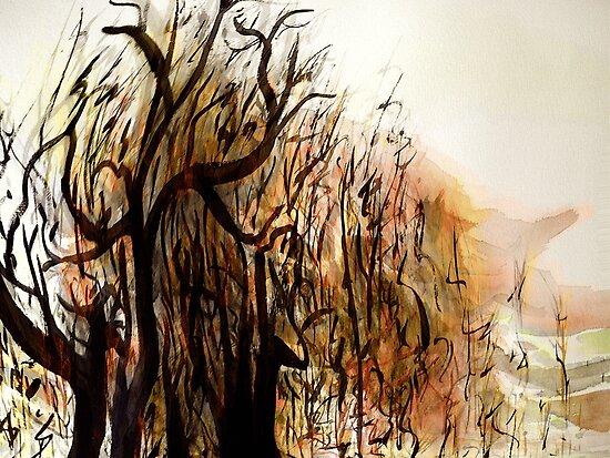 black tree wood.... vague dream by banrai