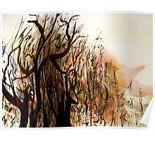 black tree wood.... vague dream Poster