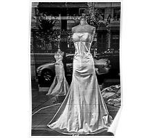 Window Display Window Brides BW Poster