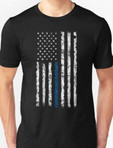 Blue Line (White) V2 Vertical T-Shirt