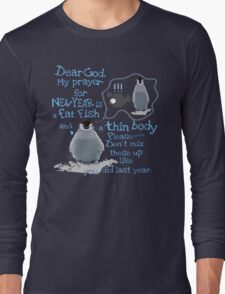 Baby penguin's funny New Year's resolution Long Sleeve T-Shirt