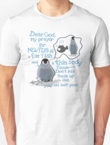 Baby penguin's funny New Year's resolution Unisex T-Shirt