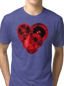 Steampunk Red Heart Tri-blend T-Shirt