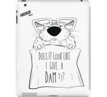 Give A Dam ?!? iPad Case/Skin