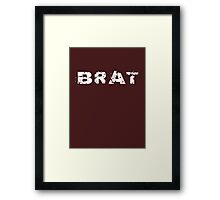 Brat Fashion T-Shirt and Top - Express Yourself Framed Print