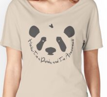 Hello Awesome Panda Women's Relaxed Fit T-Shirt