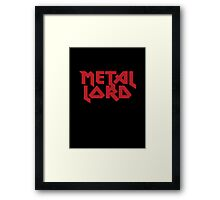 Heavy Metal Lord - Rock Music T-Shirt & Top Framed Print