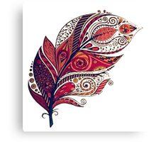 Tribal Leaf Canvas Print