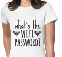 What's the WIFI password? Womens Fitted T-Shirt