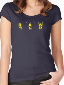 Raw shooter photographer Women's Fitted Scoop T-Shirt