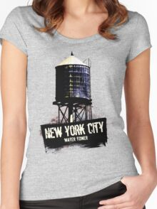 New York City Water Tower Women's Fitted Scoop T-Shirt