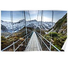 Hooker Valley Track Mt Cook NZ Poster