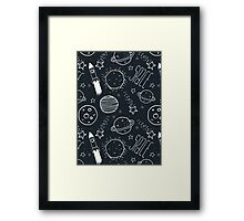 Space Doodles Framed Print