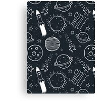 Space Doodles Canvas Print