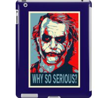 Batman - Vote for Joker Why So Serious iPad Case/Skin