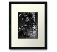 TLOU - Clicker B&W Portrait  Framed Print