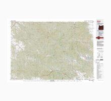 USGS Topo Map Oregon Bates 283051 1987 100000 Baby Tee