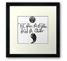 Semi Colon  Framed Print