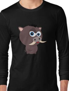 Cartoon Boar Long Sleeve T-Shirt