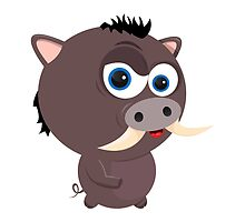 Cartoon Boar by Emir Simsek