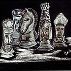 Pastel Chess by Thomas J Norbeck