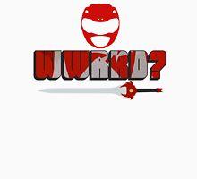 What Would Red Ranger Do? Men's Baseball ¾ T-Shirt