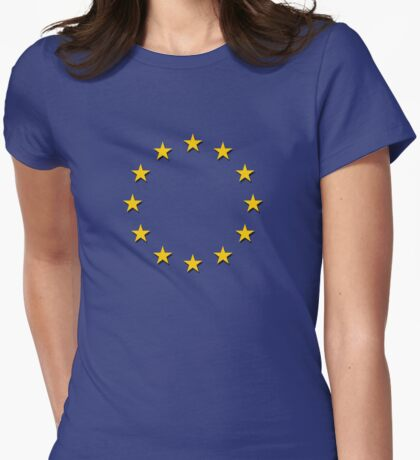 Europe - I Love The European Union ~ EU Flag T-Shirt Drapeau Design Womens Fitted T-Shirt