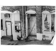 Black and White Storefront Poster