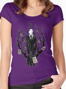 Slenderman III Women's Fitted Scoop T-Shirt