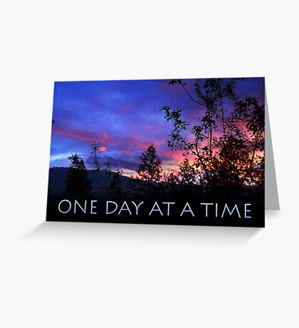 One Day at a Time Spring Sunrise Greeting Card