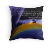Purple~ Macro Waterdrop Wall Art Throw Pillow