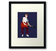 Marty Mcfly - Back to the Future Guitar legend  Framed Print