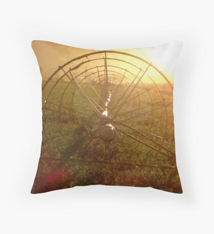 Sprinklers - Sunrise Throw Pillow