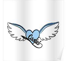 Castiel Blue Wings Poster