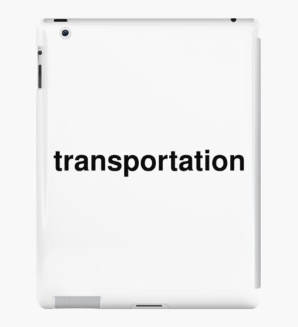 transportation iPad Case/Skin