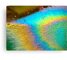 Rainbow Puddle Canvas Print