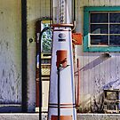 Old Gas Pump in Johnson County, Texas by Susan Russell