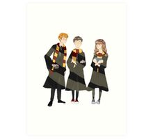 ron, harry, and hermione Art Print