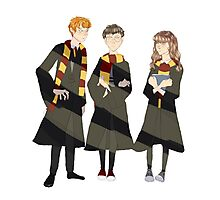 ron, harry, and hermione Photographic Print