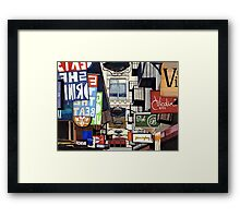 Melbourne Street Signs Framed Print