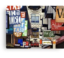 Melbourne Street Signs Canvas Print