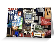 Melbourne Street Signs Greeting Card