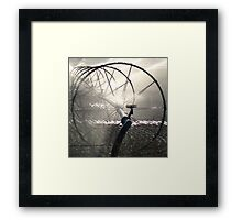 Sprinklers - Black and White Framed Print