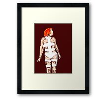 Leeloo Fifth Element - iconic film sketches Framed Print