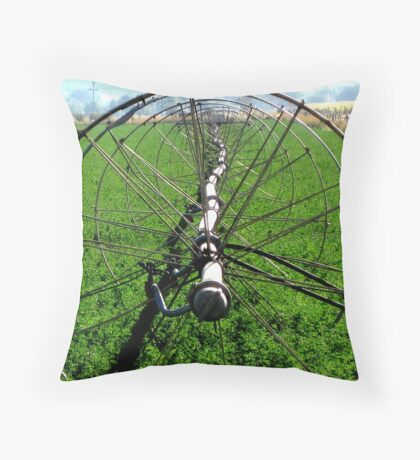 Sprinklers - Green Carpet  Throw Pillow