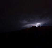 Lightning over the Tower by Anthony Baseley