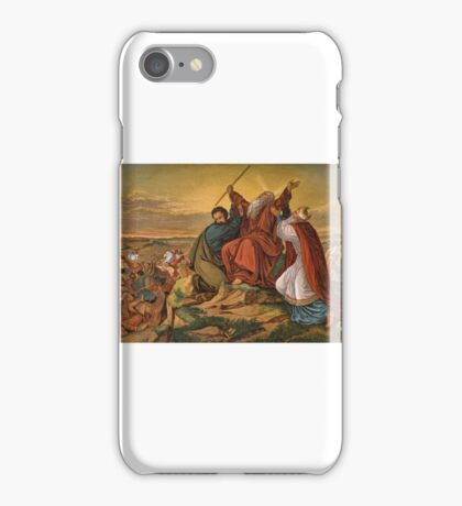 Aaron and Hur staying Moses' hands. iPhone Case/Skin