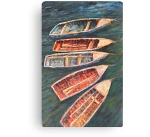 Fishing boats, Lake Titicaca Canvas Print