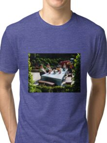 Alice and The Mad Hatter's Tea Party Tri-blend T-Shirt