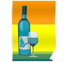asyrum wine and glass Poster